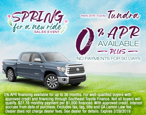 Toyota Tundra Sale Cherokee County Toyota Specials Canton Ga
